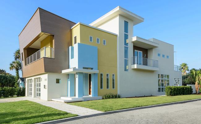 Modern beach house for Island house plans on pilings