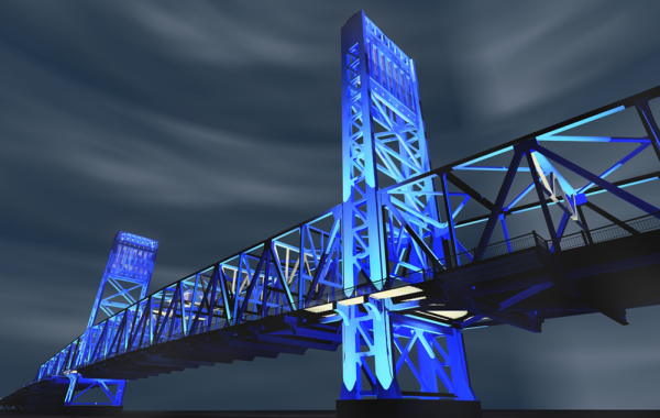 City Of Jacksonville Bridge Lighting