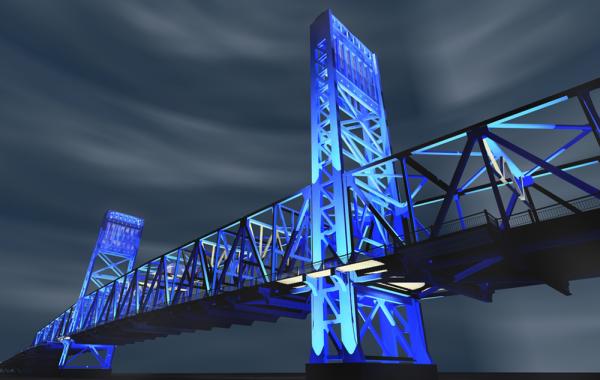 City Of Jacksonville Bridge Lighting
