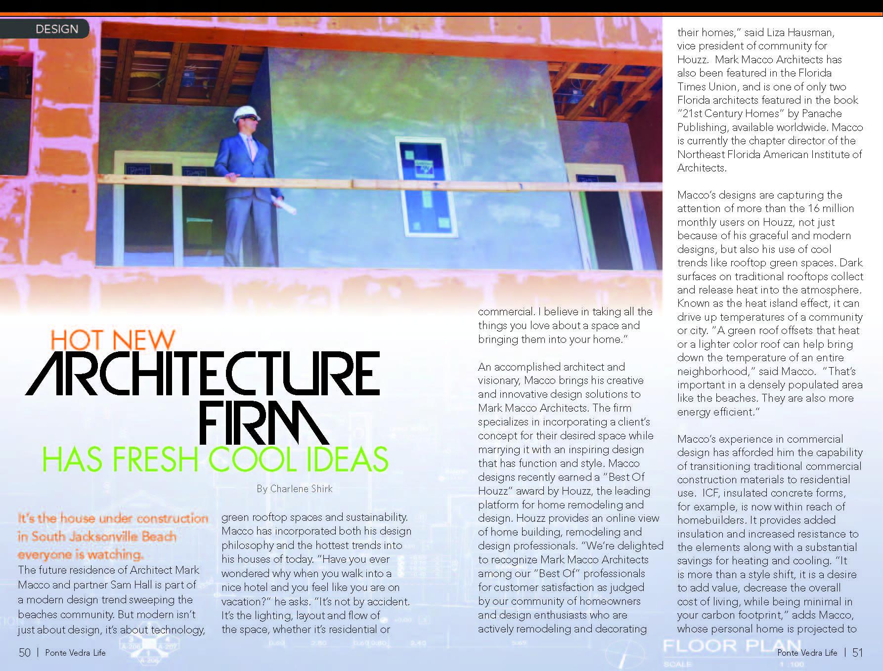 Mark Macco Architects Featured In Ponte Vedra Life Coastal Magazine Article MACCO GOLF14 Page 1